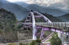 Baling Brigde på det LaLa berg, Toayuan Taiwan Arkivfoton
