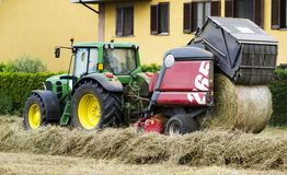 Baling Hay Royalty Free Stock Images