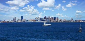 Balise dans le port de Boston Image libre de droits