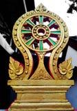 Balise de délimitation d'un temple photos stock