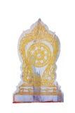 Balise de délimitation de marbre d'un temple Image stock