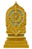 Balise de délimitation de Sema d'un temple, symbole d'église de bouddhisme Image stock