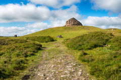 Balise de Dunkery sur Exmoor Photo libre de droits