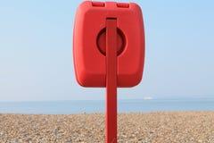 Balise de vie sur une plage Images stock