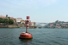Balise en mer à Porto Photos libres de droits
