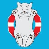 Balise mignonne de chat illustration de vecteur