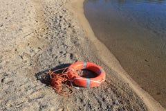 Balise sur la plage Image libre de droits