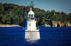 Balise Sydney Harbour Australia de phare Photographie stock libre de droits