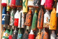 Balises de pêche Photographie stock