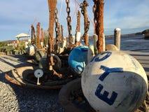 Balises de port, Essex le Connecticut Photographie stock