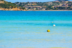Balises en Costa Smeralda Photo stock