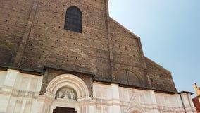 Balisica da fachada de San Petronio vídeos de arquivo