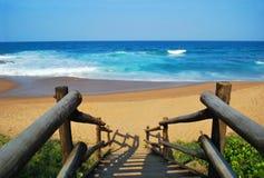 Balito beach steps Stock Image