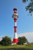 Baliza no cuspe de Vistula a região de Kaliningrad Imagens de Stock