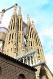 Balizas da catedral de Barcelona Fotos de Stock Royalty Free