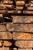 Balk. Image of  stacked  boards in a sawmill Royalty Free Stock Photography