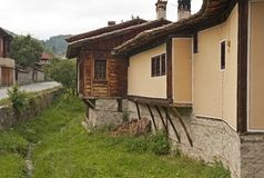 Balkan ancient houses. Royalty Free Stock Photo