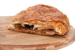 Balkan burek with meat and cheese Royalty Free Stock Photos