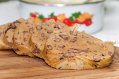 Balkan cuisine traditional food chicken liver Royalty Free Stock Image