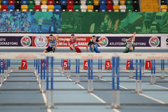 Balkan Junior Indoor Championships Istanbul 2017 Stock Image