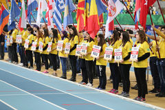 Balkan Junior Indoor Championships Istanbul 2017 Stock Photo