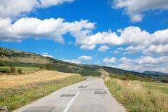Balkan Mountain. Old road at Balkan Mountain (Stara Planina) National Park in Serbia Europe stock image