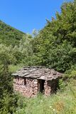 Balkan Mountain. Old stone house at Balkan Mountain (Stara Planina) National Park in Serbia Europe stock photos