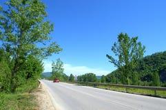 Balkan Mountain pass. View of Balkan mountain(Stara planina)pass Troyan-Karnare,Bulgaria Stock Photo