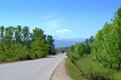 Balkan Mountain pass. View of Balkan mountain pass Troyan-Karnare,Bulgaria royalty free stock image
