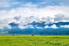 Balkan Mountain Range. Low cloudscape covering the mountain stock photography