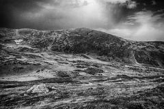 Balkan mountains black and white Royalty Free Stock Image