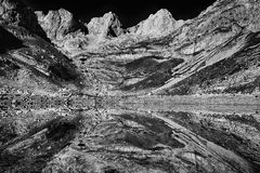 Balkan mountains black and white Royalty Free Stock Photography