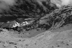 Balkan mountains black and white Royalty Free Stock Images