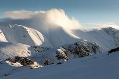 Balkan Mountains sunset Royalty Free Stock Images