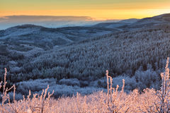 Balkan Mountains sunset Stock Photos
