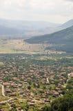 Balkan's village at the foot of the mountains, Bulgaria Stock Photos
