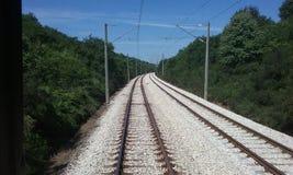 Balkan-Schienen Stockfoto
