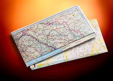 Balkan-Straßenkarte 2012 Lizenzfreies Stockfoto