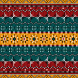 Balkan style ethno country carpet. Seamless pattern design Stock Photography