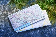 Balkan wegenkaart 2012 Royalty-vrije Stock Foto