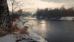 Balkan Winter Landscape. Landscape of winter scene over the river during day Stock Image