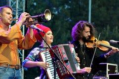 Balkanik 2017: Festival för musik för värld för Rumänien ` s fri frilufts- Royaltyfria Bilder