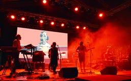 Balkanik 2017: Rumunia ` s Bezpłatny na otwartym powietrzu Światowy festiwal muzyki Zdjęcia Royalty Free