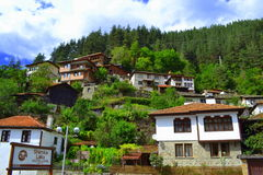 Balkans bergby Royaltyfri Foto