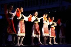 Balkans folk dance Royalty Free Stock Photography
