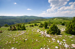 Balkans hills covered by rocks Stock Image