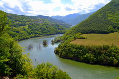 Balkans mountain river view Royalty Free Stock Images
