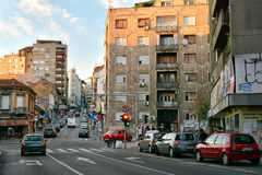 Balkanska street, Belgrade Royalty Free Stock Images