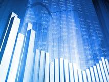 Balkendiagramm mit globalem Index Stockfotos
