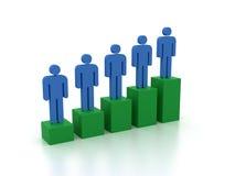 Balkendiagramm mit menschlichen Figuren Lizenzfreies Stockfoto